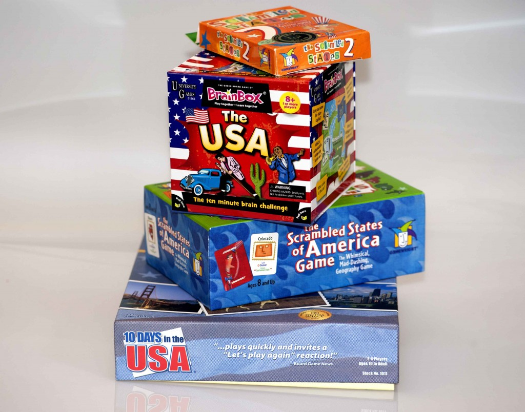 US Geography Board and Card Games