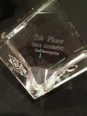 Award for 7th place at National Mock Trial in May 2013